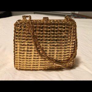 Rare 60's-70's Rodo Italy Gold Metal Weave Purse